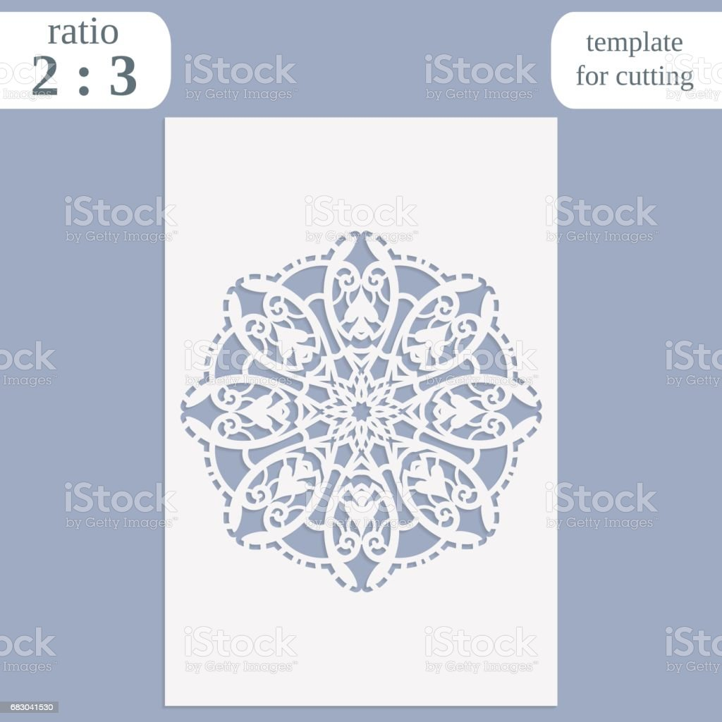 Paper openwork greeting card, template for cutting, lace invitation, lasercut metal panel, wood carving, vector illustration paper openwork greeting card template for cutting lace invitation lasercut metal panel wood carving vector illustration - arte vetorial de stock e mais imagens de abstrato royalty-free