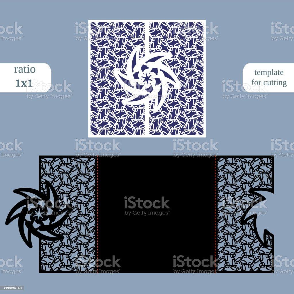 Durchbrochene Quadratischen Papiergrußkarte Hochzeitseinladung ...