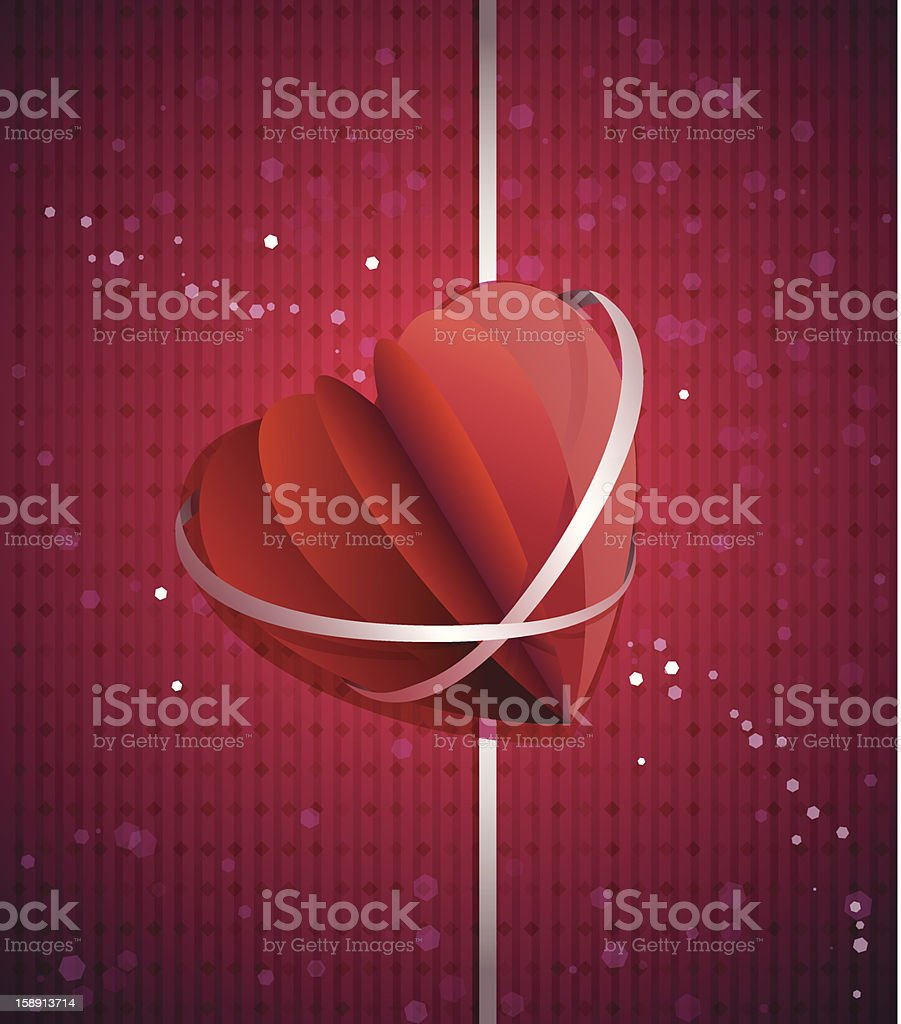 Paper origami heart royalty-free stock vector art