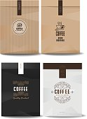 paper package design mock up template.cafe and restaurant packaging. coffee badge . vector template. vintage style.