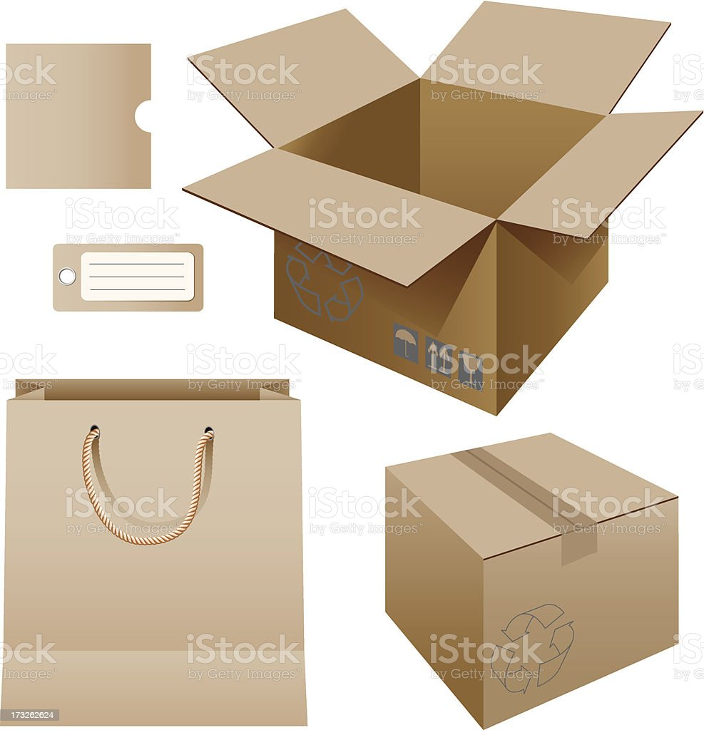paper packaging royalty-free stock vector art