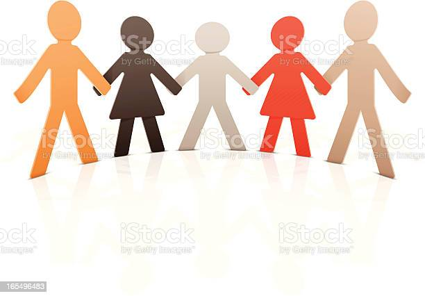 Paper People Stock Illustration - Download Image Now
