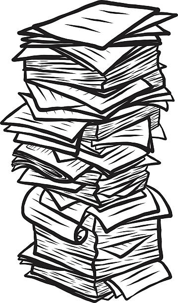 Royalty Free Black And White Stack Of Books Clip Art ...