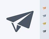 istock Paper Plane - Carbon Icons 847822758