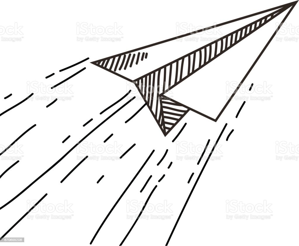 Paper Plane Drawing Stock Illustration Download Image Now