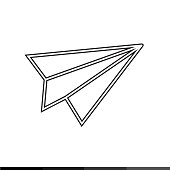 Paper Plane Icon Illustration design