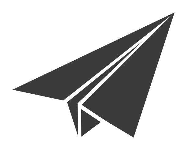 Paper Plane Icon Vector of Paper Plane Icon paper airplane stock illustrations
