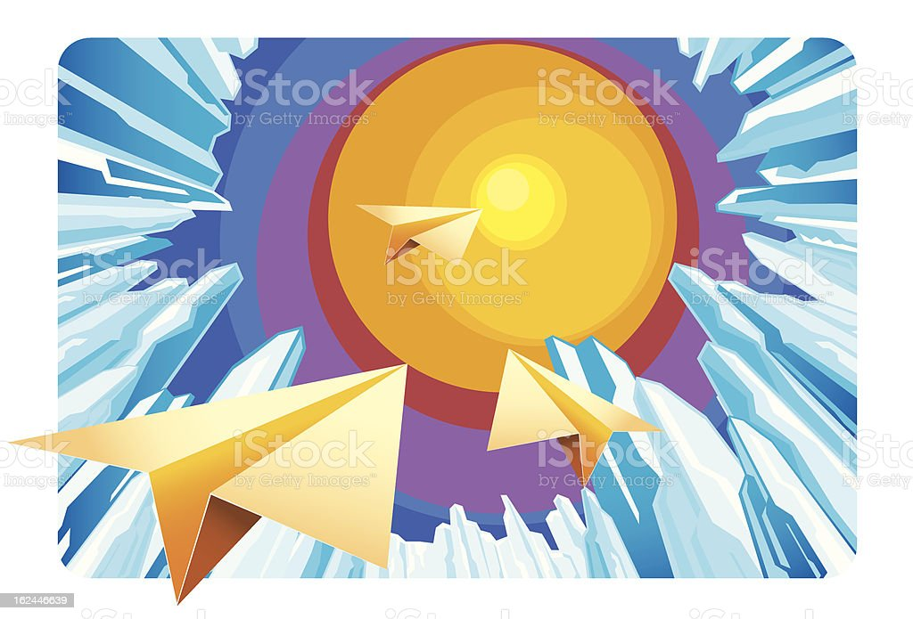 paper plane royalty-free paper plane stock vector art & more images of air vehicle