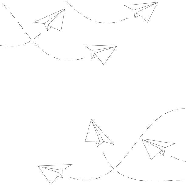 Paper Planes Background Paper Planes Background paper airplane stock illustrations