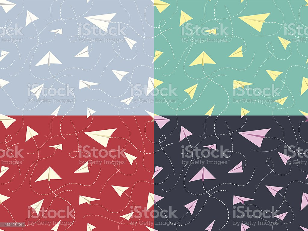 Paper Planes Pattern royalty-free paper planes pattern stock vector art & more images of backgrounds