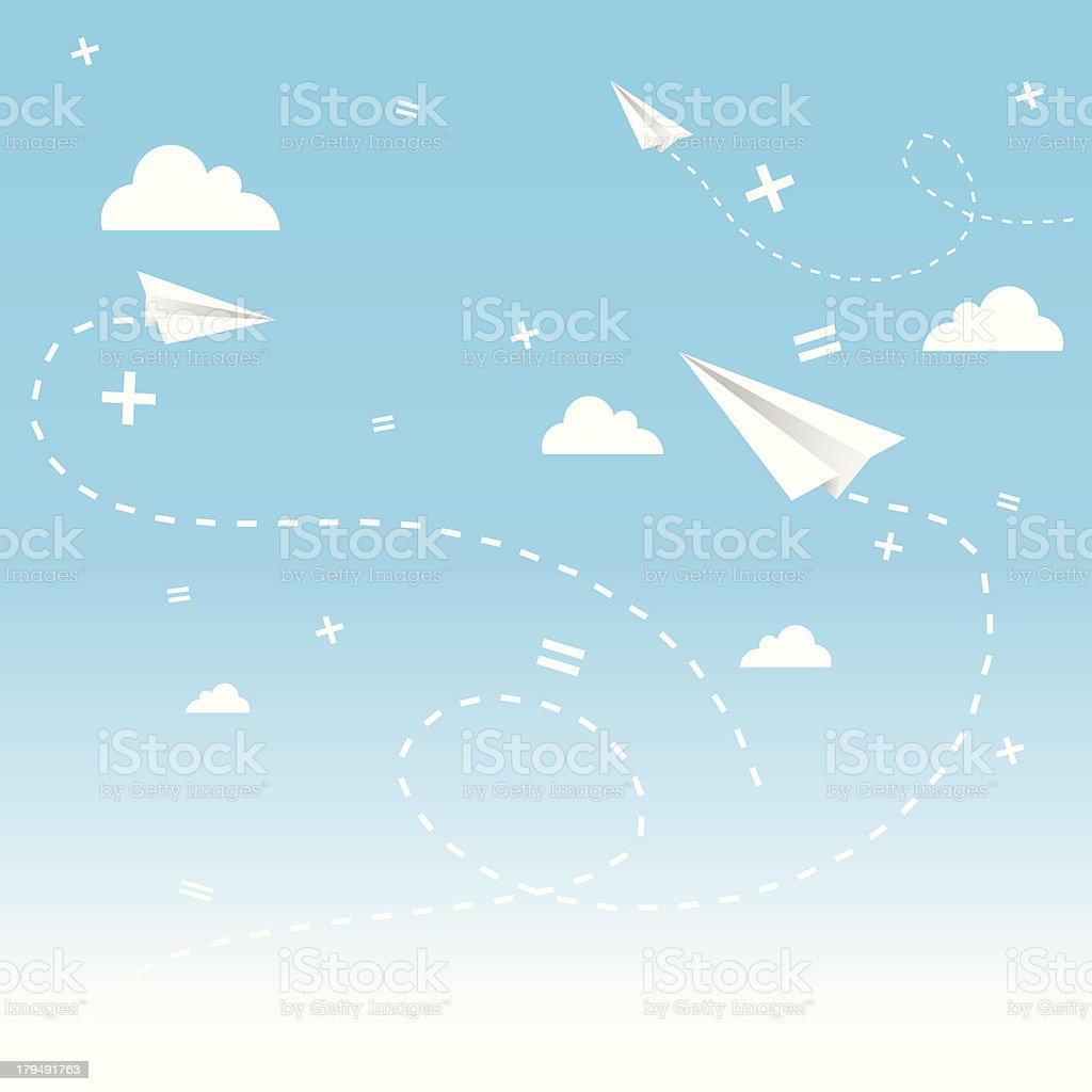 paper planes royalty-free stock vector art