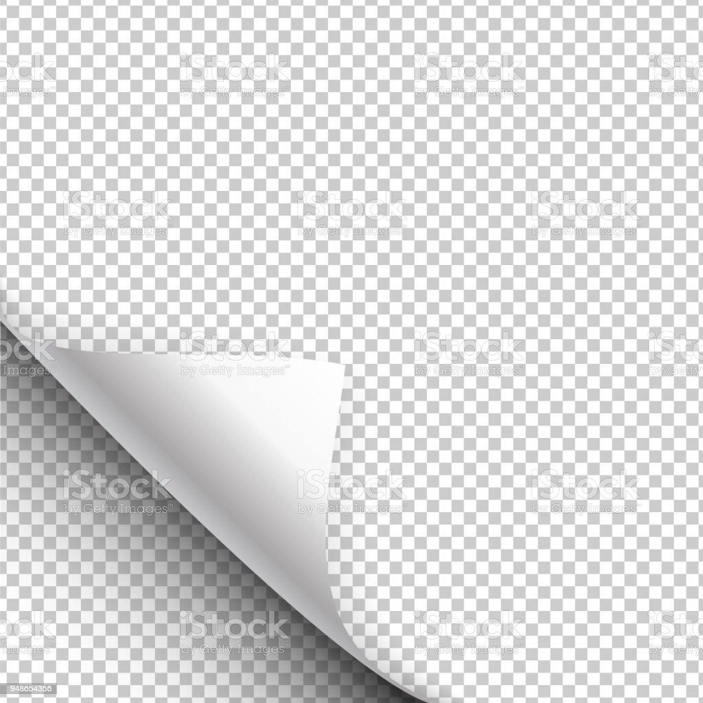 Impression sur papier se bloque avec un coin enveloppé. Illustration vectorielle - clipart vectoriel de Abstrait libre de droits