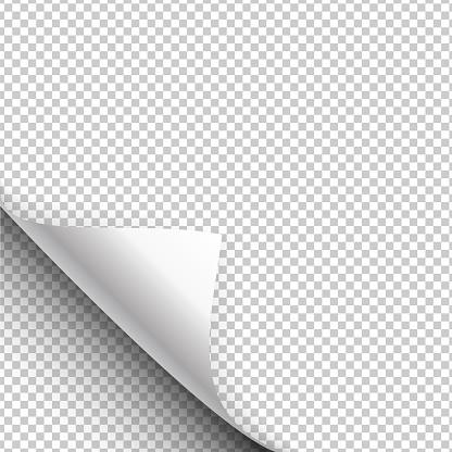 Impression Sur Papier Se Bloque Avec Un Coin Enveloppé Illustration Vectorielle Vecteurs libres de droits et plus d'images vectorielles de Abstrait
