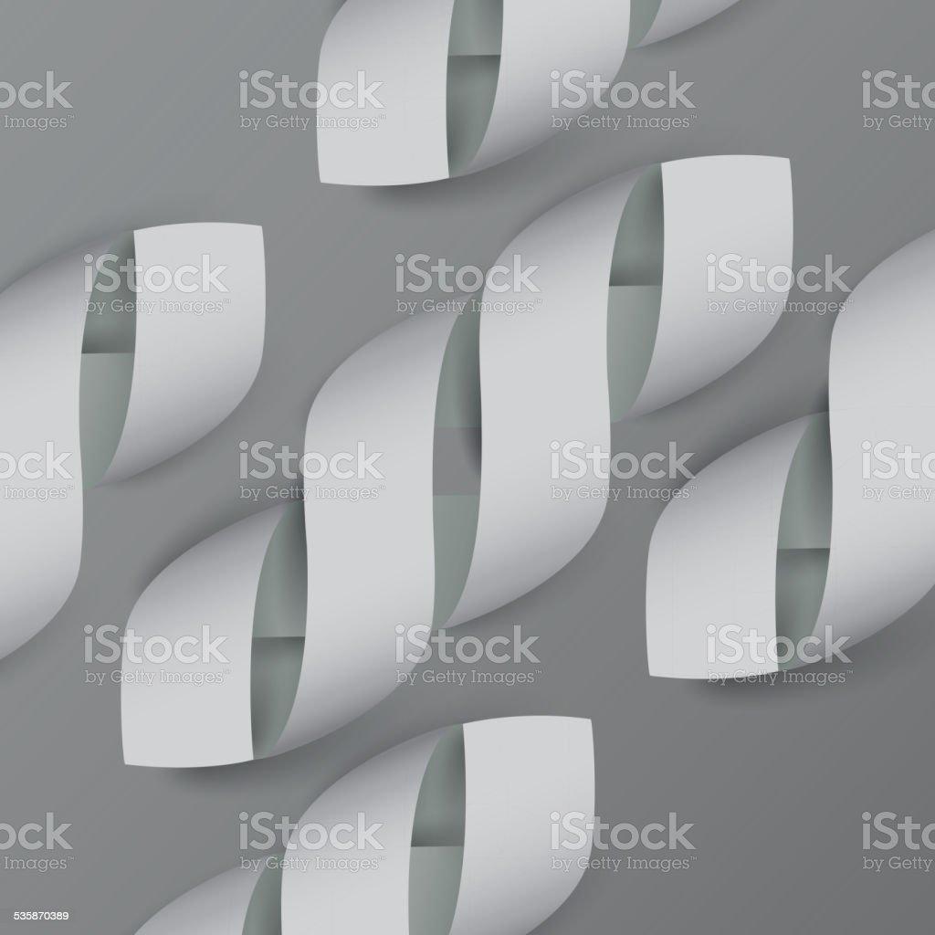 Paper Ribbon Pattern vector art illustration