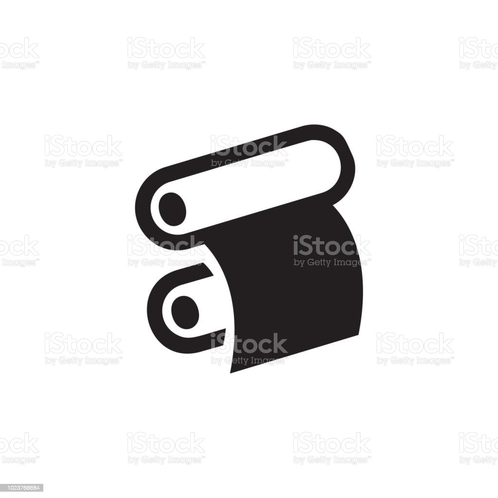 Paper Roll Of A Printing Press Icon Element Of Printing