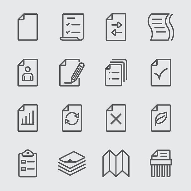 Paper sheet line icon Paper sheet line icon form document stock illustrations