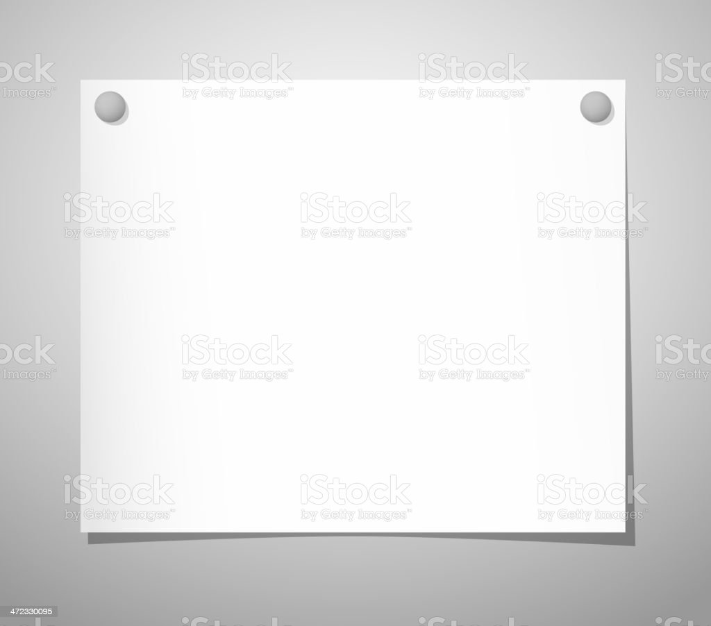 Paper sheet with pushpins on gray royalty-free paper sheet with pushpins on gray stock vector art & more images of abstract