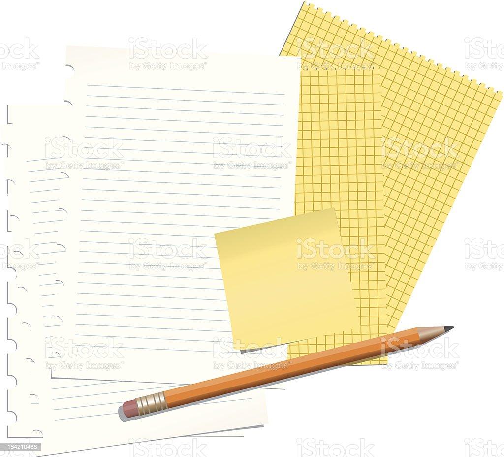 Paper Sheets vector art illustration