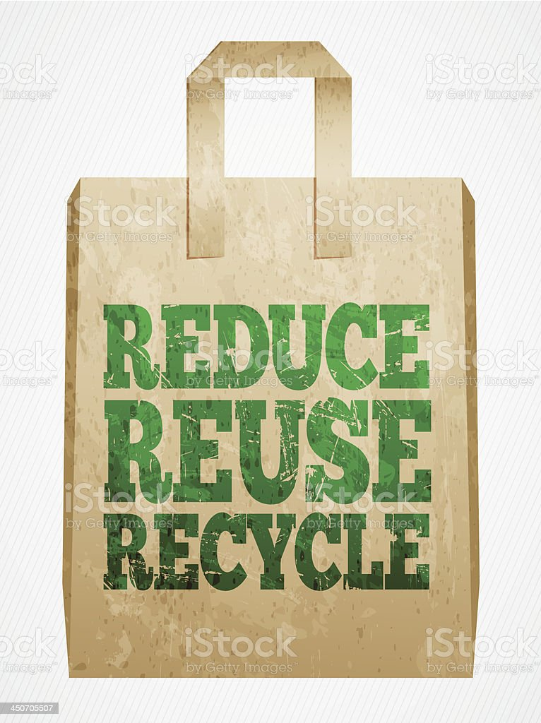 paper shopping bag royalty-free stock vector art