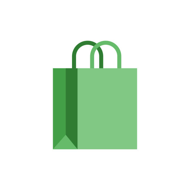 ilustraciones, imágenes clip art, dibujos animados e iconos de stock de bolsas de papel - small business saturday