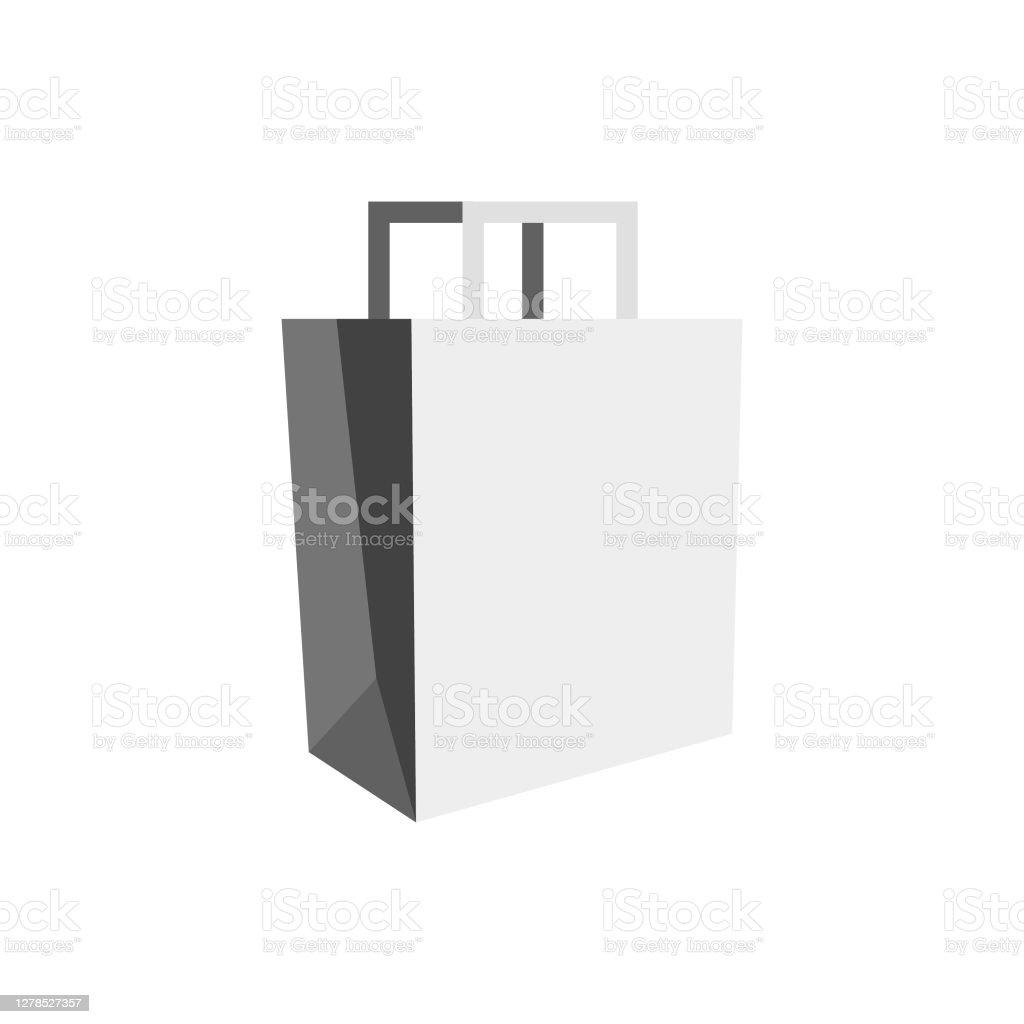 Paper shopping bags - Grafika wektorowa royalty-free (Artykuły spożywcze)