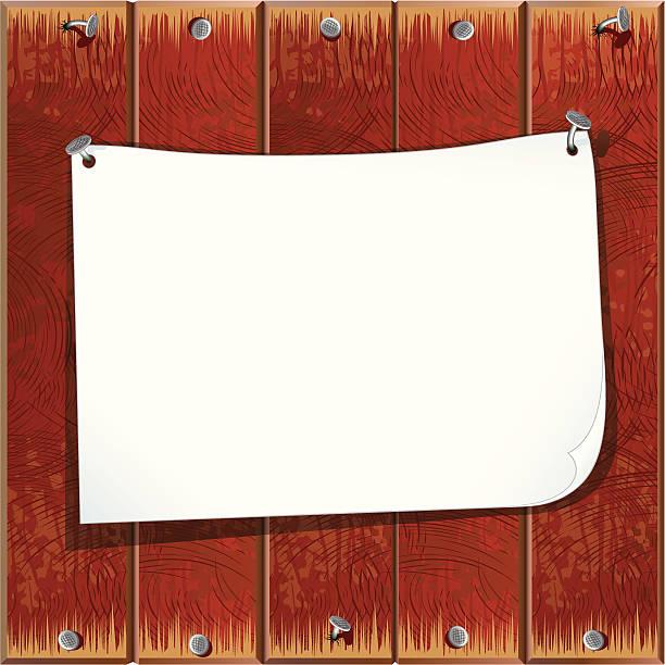 papier-schild - nagelplatte stock-grafiken, -clipart, -cartoons und -symbole