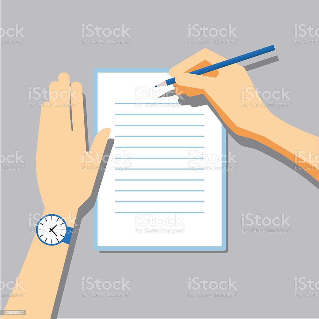 Paper Signing Flat Vector Illustration vector art illustration