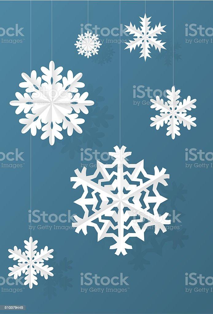 Paper Snowflacke vector art illustration