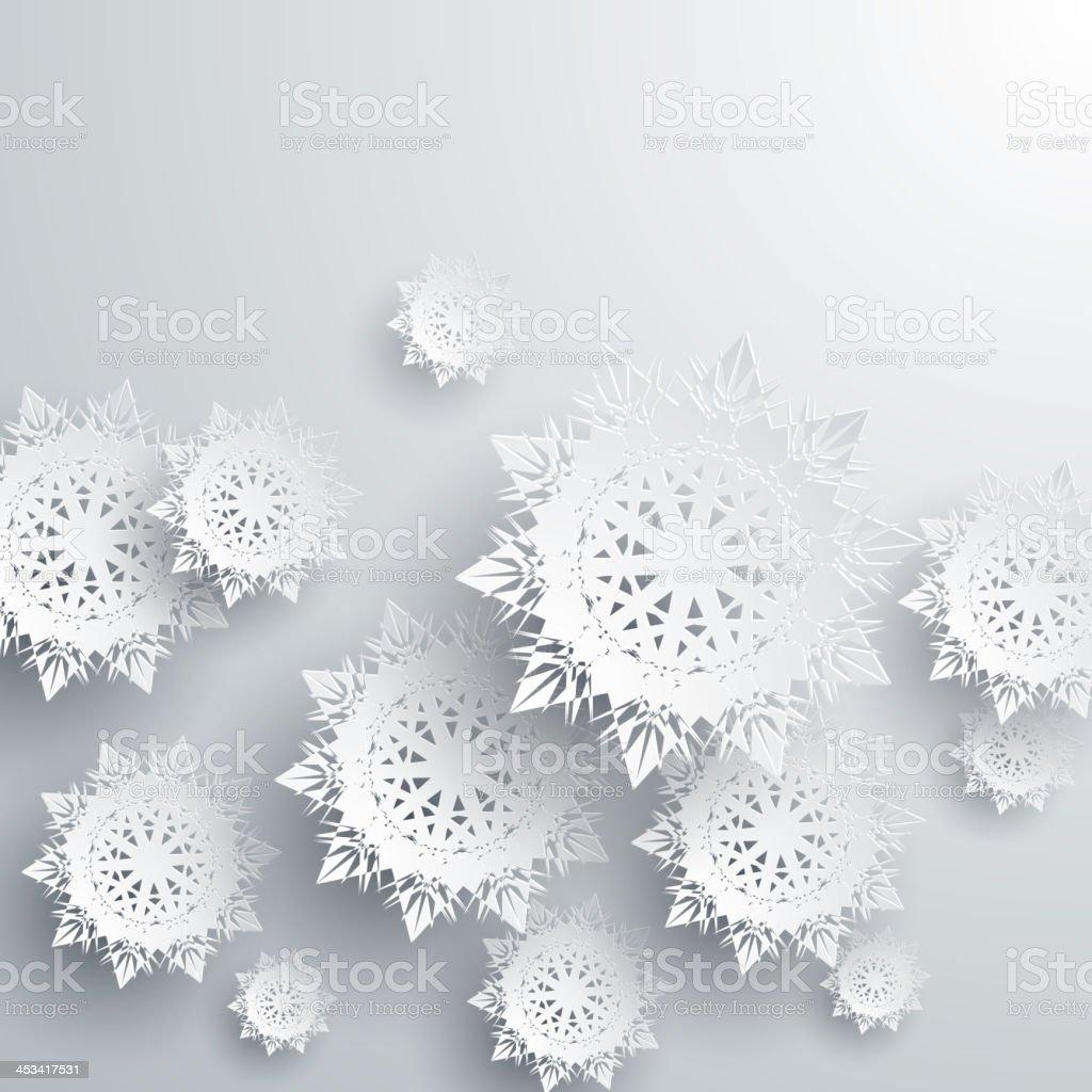 Paper snowflakes vector art illustration