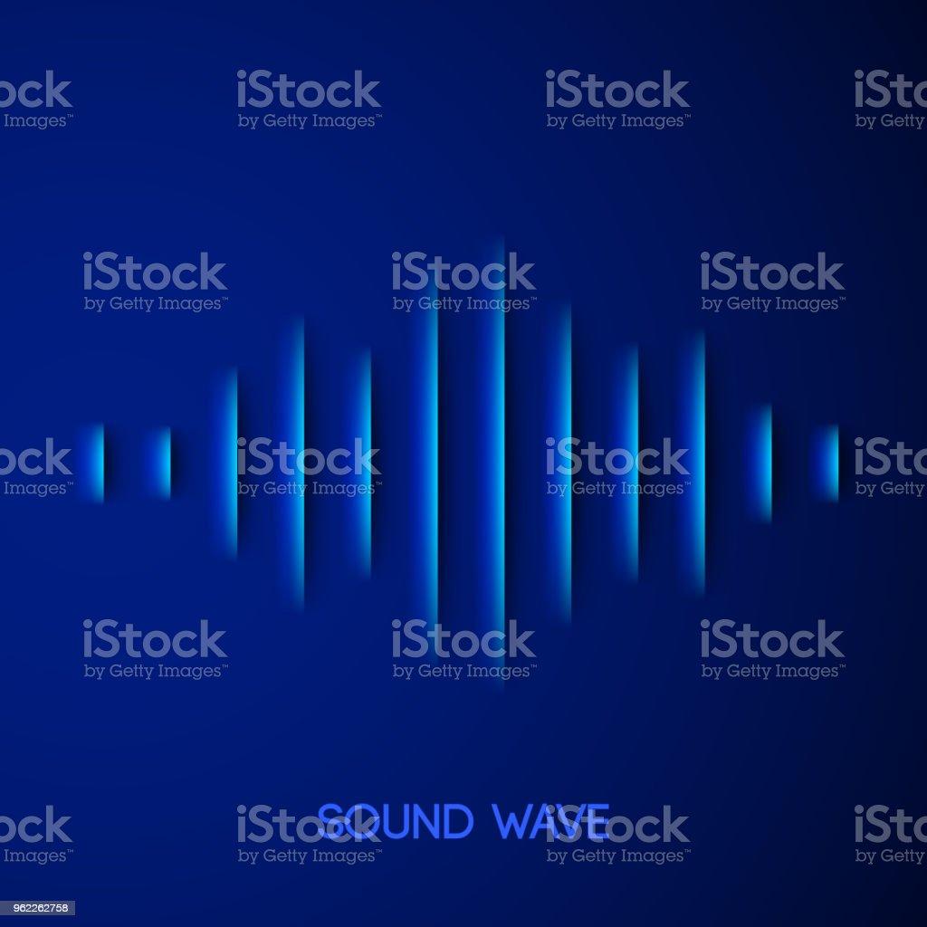 Paper sound waveform with shadow vector art illustration