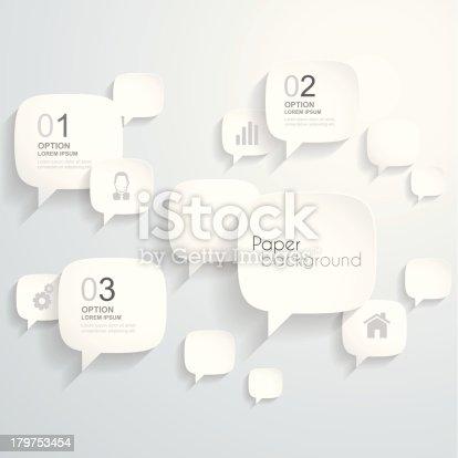 istock Paper speech bubbles Background 179753454