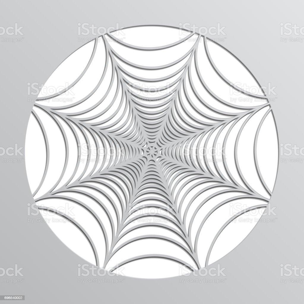 paper spider web origami halloween decoration vector stock vector
