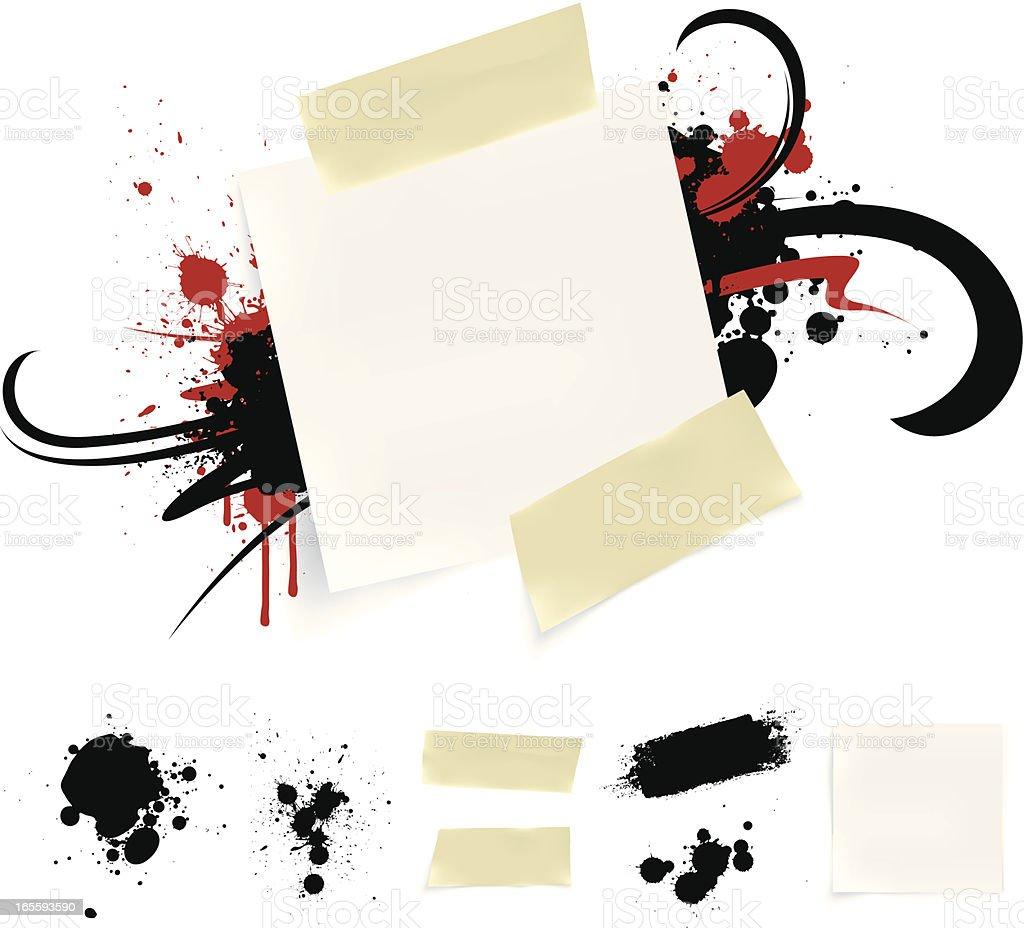 Paper splatter royalty-free stock vector art