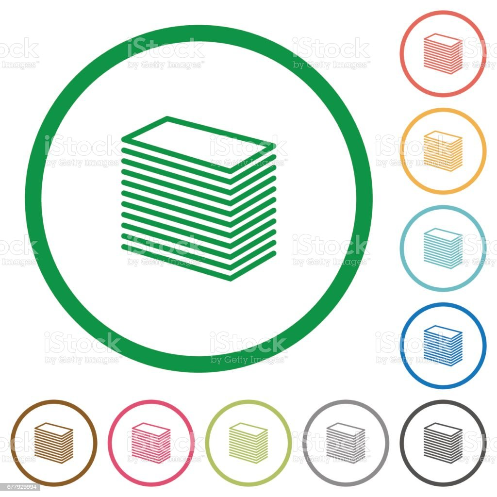 Paper stack outlined flat icons royalty-free paper stack outlined flat icons stock vector art & more images of applying