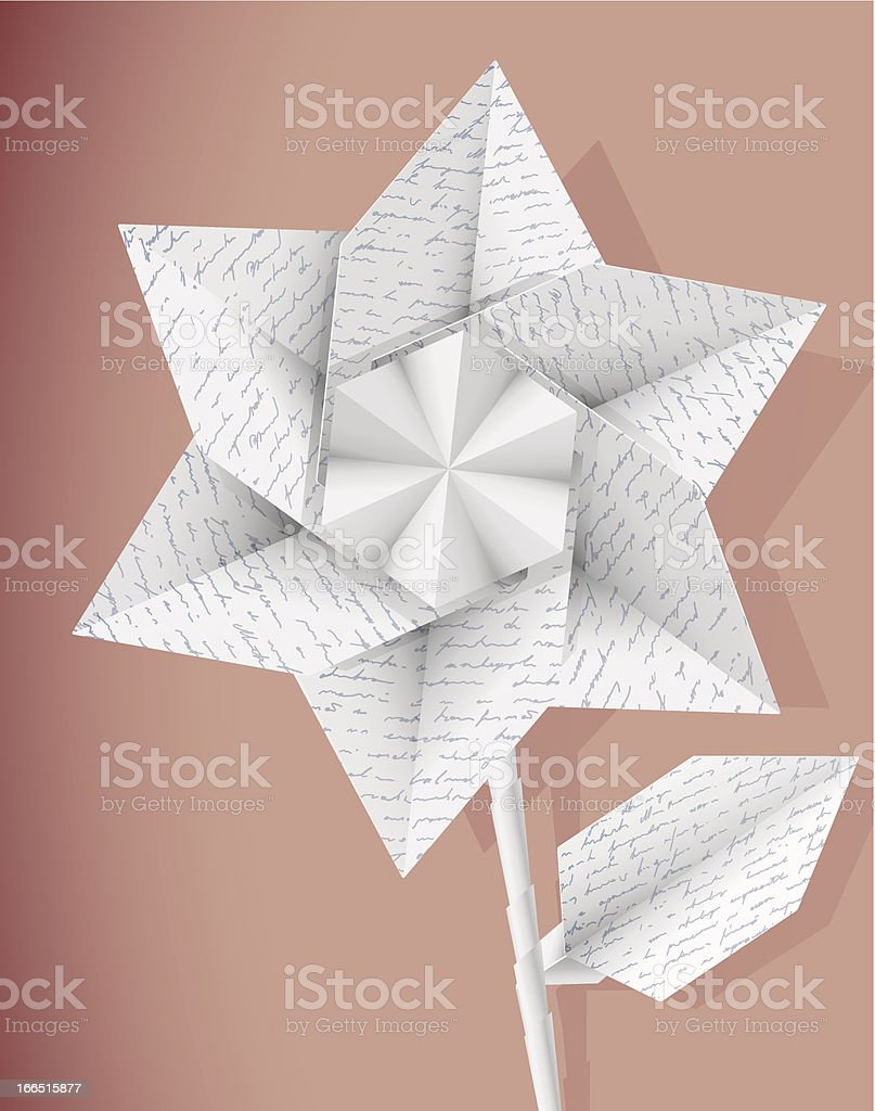Paper Star Flower With Handwriting Texture Eps10 Stock Vector Art