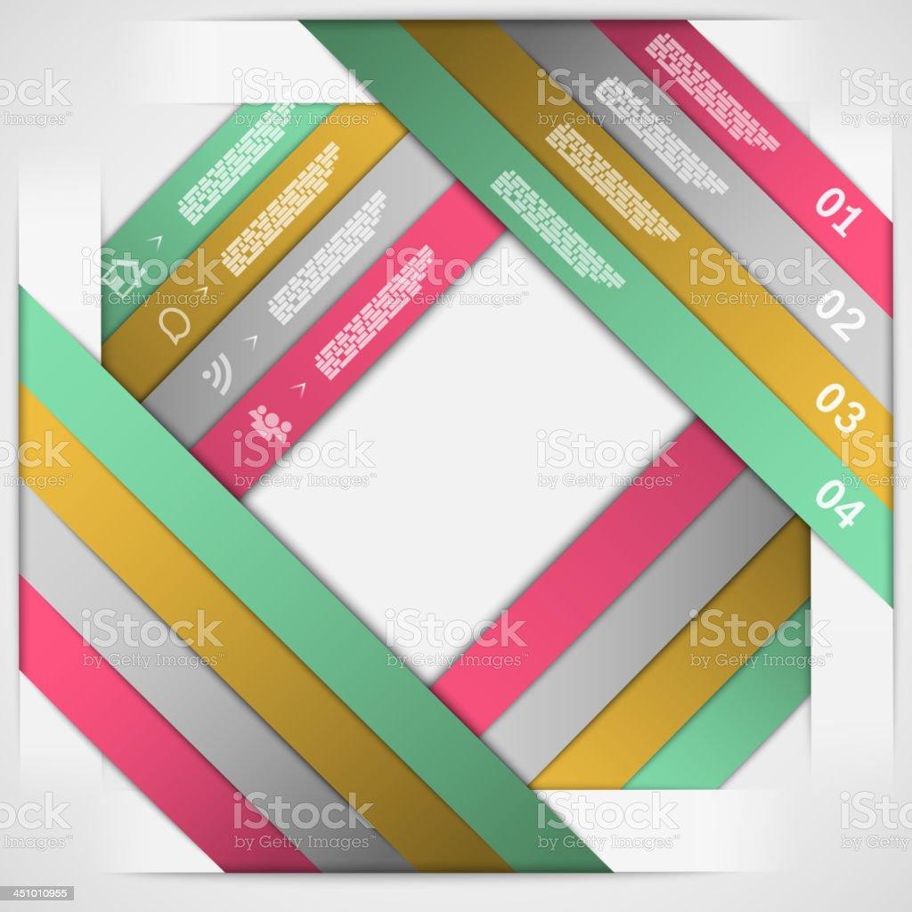 Papier Streifen Vorlage-Wahl Lizenzfreies papier streifen vorlagewahl stock vektor art und mehr bilder von abstrakt
