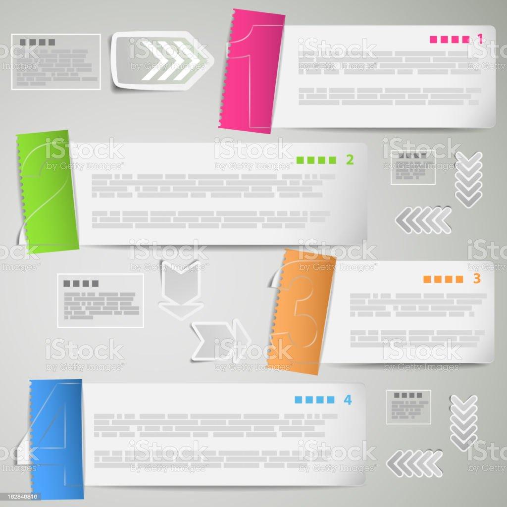 Papier Streifen Vorlage für Daten Lizenzfreies papier streifen vorlage für daten stock vektor art und mehr bilder von abstrakt