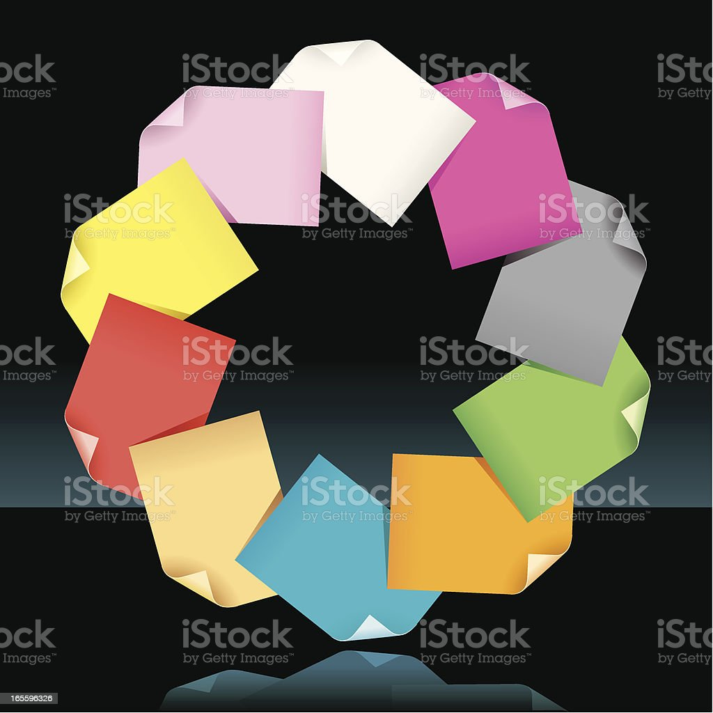 Paper supplies royalty-free paper supplies stock vector art & more images of bunch