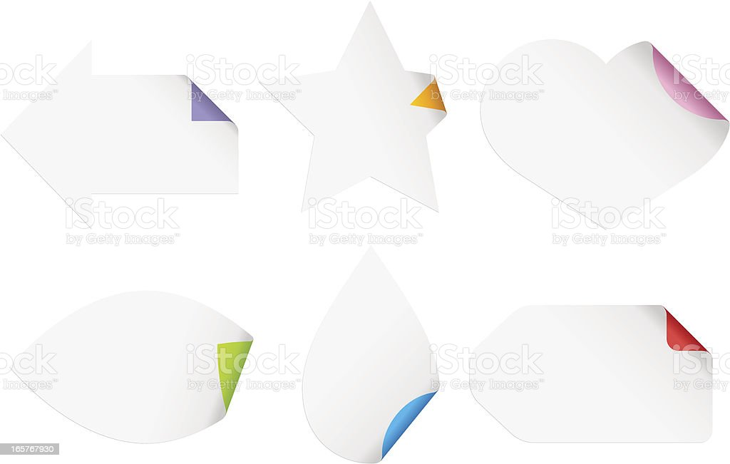 Paper Symbols royalty-free stock vector art