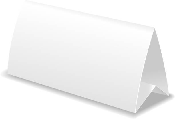 papier tisch karte vorlage vektor-illustration - tischkalender stock-grafiken, -clipart, -cartoons und -symbole