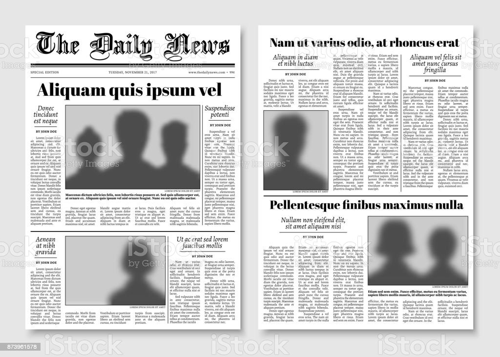 Paper tabloid newspaper vector layout editorial news template stock paper tabloid newspaper vector layout editorial news template royalty free paper tabloid newspaper vector maxwellsz
