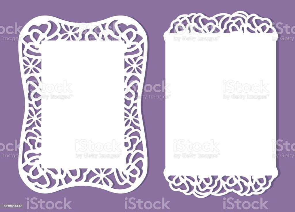 用紙テンプレート招待状 (ベビー シャワー、結婚式、誕生日、洗礼) ベクターアートイラスト