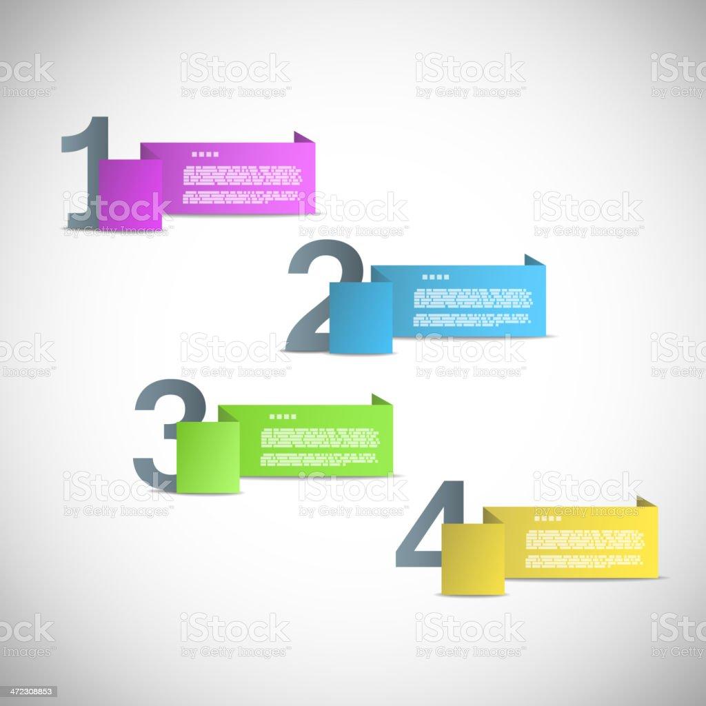Papier-Vorlage für Präsentation oder Versionen Fortschritt Lizenzfreies papiervorlage für präsentation oder versionen fortschritt stock vektor art und mehr bilder von computergrafiken
