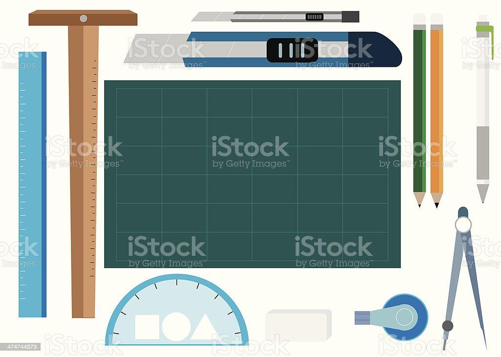 paper tool, Office Supplies, vector illustration royalty-free stock vector art