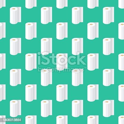 istock Paper Towel Cleaning Supplies Pattern 1306013854