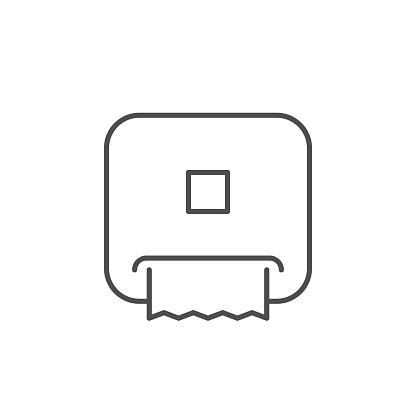 Paper towel dispenser line outline icon