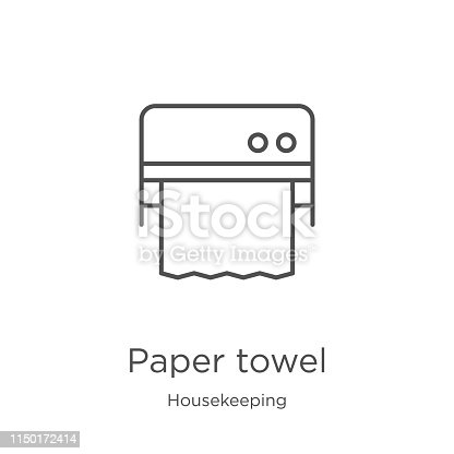 paper towel icon. Element of housekeeping collection for mobile concept and web apps icon. Outline, thin line paper towel icon for website design and mobile, app development