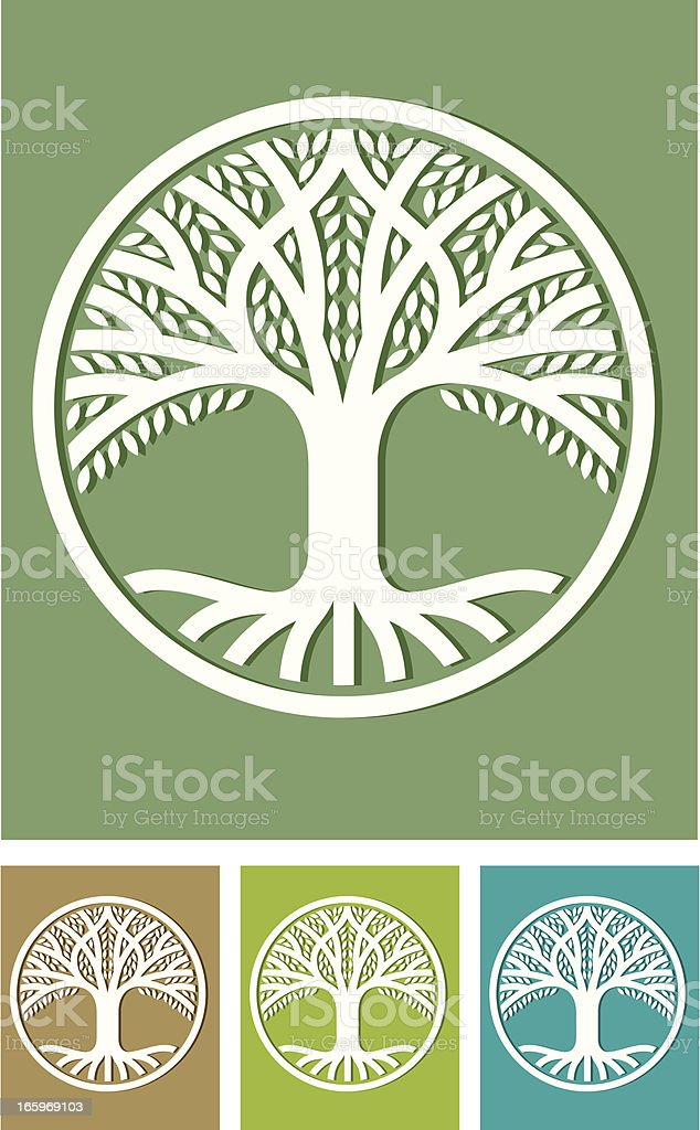 Paper tree royalty-free stock vector art