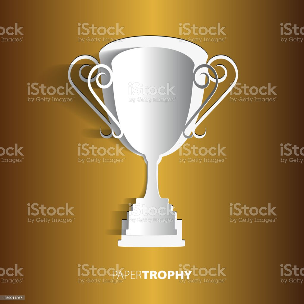 Paper trophy with space for your text - vector royalty-free stock vector art