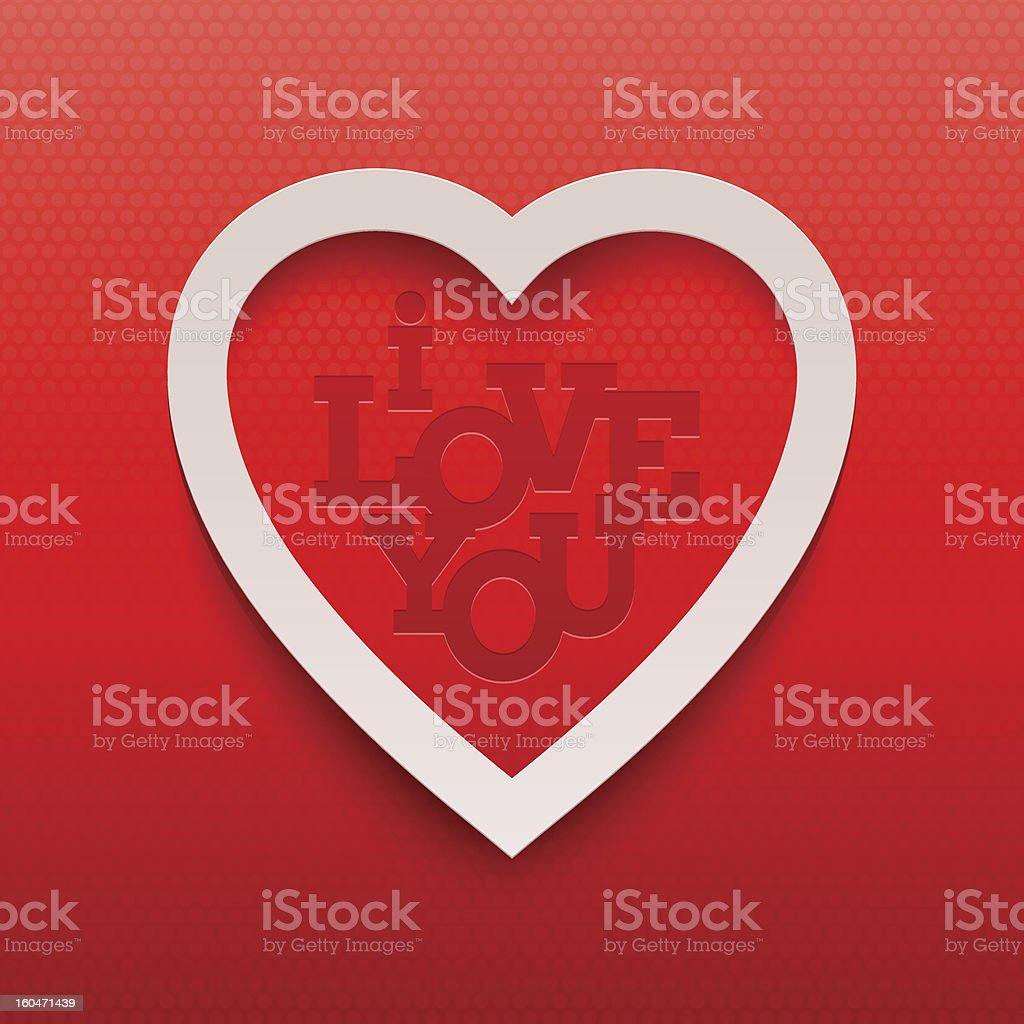 Coração E Papel Para Namorados Letteringi Love Youfrase Em Inglês